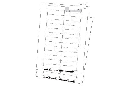 ET100 Cardboard Inserts-White (100x27mm/3.93x1.06in) 20 Inserts/Sheet, 10 Sheets/Pkg
