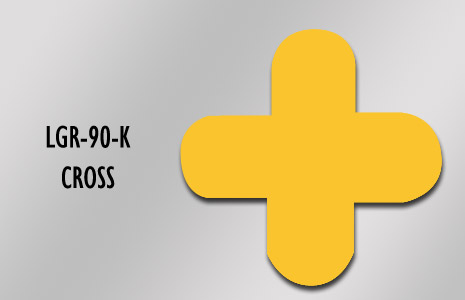 LongLife Rounded Floor Marking - Cross (90mm/3.54in)