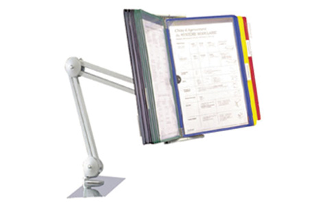 Pivot Arm With 10 Color Coded Document Holder Sleeves